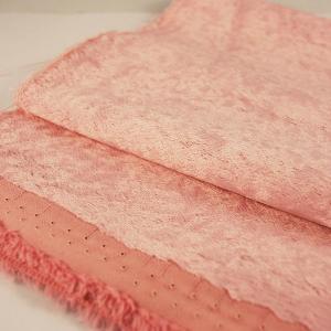 Viscose de coton rose +/- 6mm