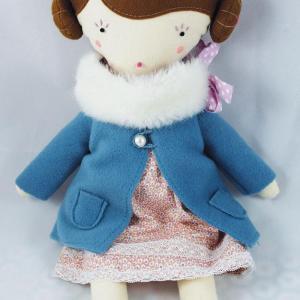 Kit manteau-col fourrure pour Louise